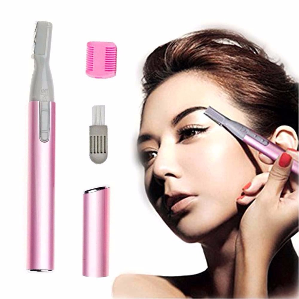 GIRL LADY ELECTRIC SHAVER BIKINI LEGS EYEBROW TRIMME SHAPER HAIR REMOVER GIFT(China)
