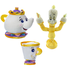 Disney Beauty and The Beast Teapot Cup Candle Holders Soft Toy Mrs Potts Stuffed Toys Plush Dolls Kids Birthday Birthday Gifts