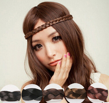 Free Shipping(3pcs/lot) Fashion women's coffee Twisted hairbands girl's cute headwear hair accessories