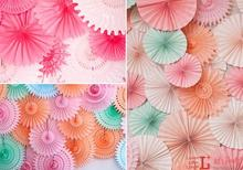 12inch 30cm Cheap Paper Fans For Wedding Tissue Paper Fans Flowers Birthday Party Holiday Supplies Wedding Favors