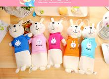 Cartoon Plush pencil case Cute Rabbit pencil bag for kids toy gift Korean stationery pouch Office school supplies(China)