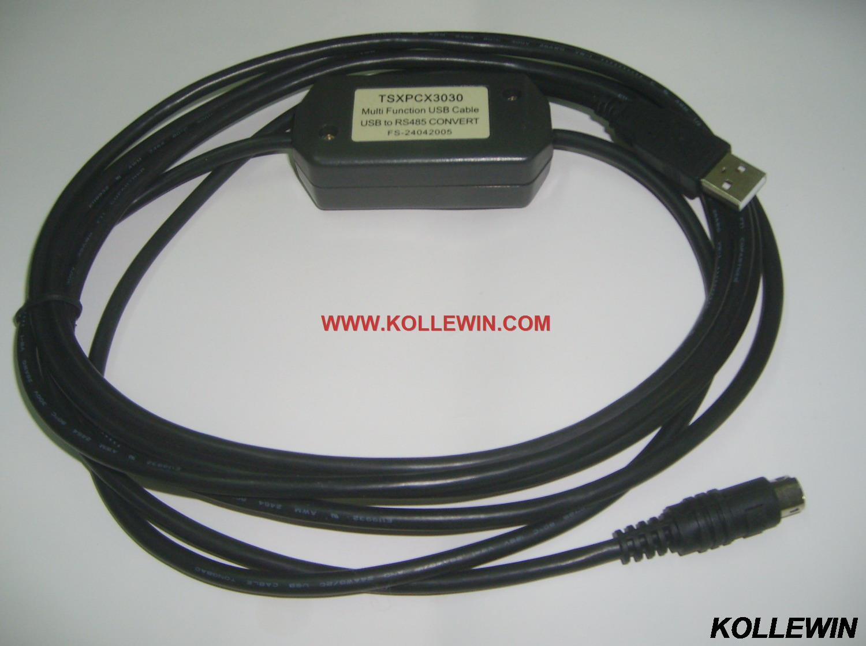 TSXPCX3030 is for TSX Premium(57),TSX Micro(37),TSX Nano(07),TSX Naza(08) and Twido PLC programming,with master/slave switch<br>