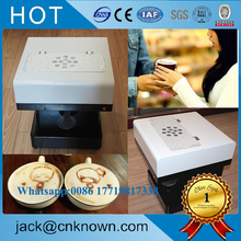 Hot sale 20 S / CUP high speed import print head 3 d art coffee printing machine with good service(China)