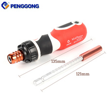 PENGGONG Telescopic Ratchet Adjustable Screwdriver Bit Holder 1/4 Hex Multitool Precision Magnetic Screw Driver Drill Bit Holder