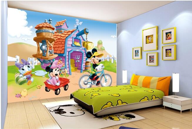 Custom children wallpaper, a large cartoon mouse murals for paradise children room wall paper DE parede vinyl which wallpaper<br><br>Aliexpress