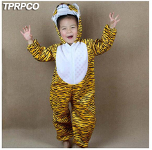 TPRPCO Children Kids Girl Boy Cartoon Animals Costumes Performance Clothes Tiger Children's Day Halloween Costumes Jumpsuit Y964