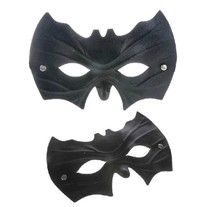 2pcs/lot Fashion Halloween Black Mask Masquerade Party Masks Batman Face Costume Masks 11-580(China)
