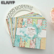 "KLJUYP 24sheets/pack 6"" Single Printed Frames pattern creative papercraft art paper handmade scrapbooking kit set books(China)"