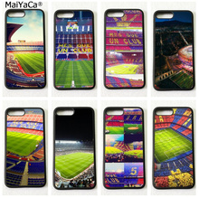 Barcelona basketball court soft silicone hight quality phone cases for iphone x 5c 5s se 6s 6plus 7 7plus 8 8plus case(China)