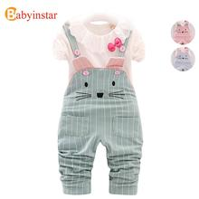 New 2017 Girls Clothing Set Autumn Spring Cotton  2 Pcs Kids Suits Children Set Children Clothing Outwear Hello Kitty