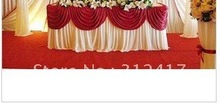 Top rated polyester customized color round cake table skirting swag , bouquet/wedding table skirt