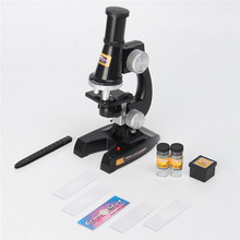 Hot Sale 100X Educational Starter Biological Microscope Kit Lab Toy Present Gift Kids Students New Arrival