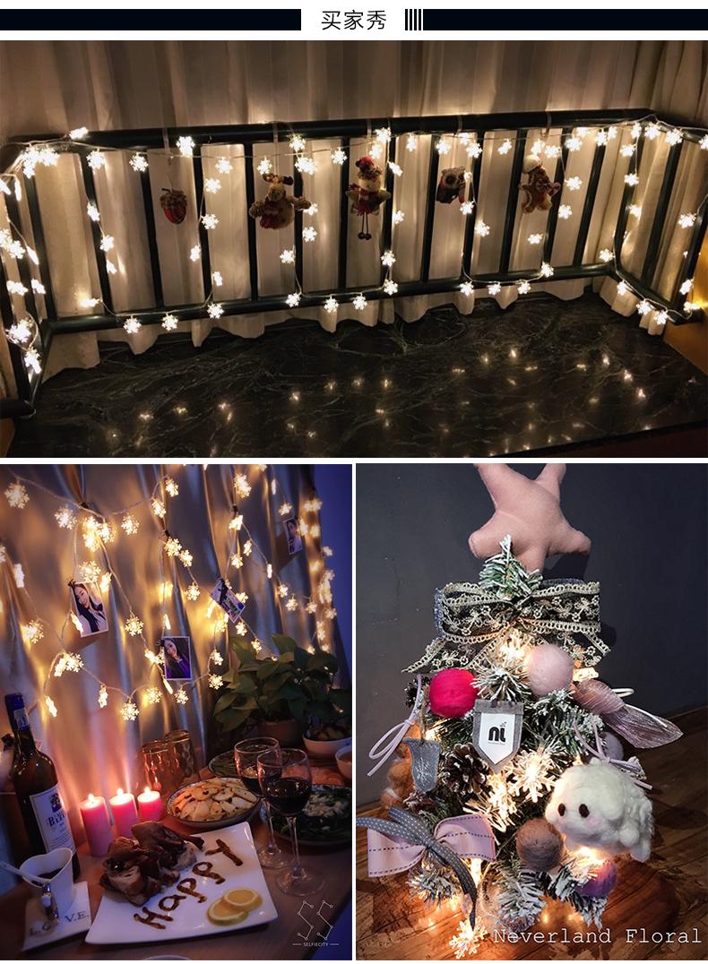 10M 100Leds 2V Christmas Tree Snow Flakes Led String Fairy Light Xmas Party Home Wedding Garden Garland Christmas Decorations 11