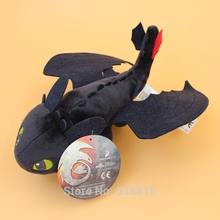 10'' How To Train Your Dragon Night Fury Toothless Black Dragon Plush Toy Soft Stuff Doll 20 pcs