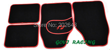 FM005  black Car floor mats with suede universal waterproof 4pcs front & rear pedals  accesorios coche for mazda 3 opel mokka