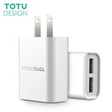 Buy TOTU Universal 2 Ports USB Mobile Phone Charger 5V 2.4A US Plug Dual Ports Travel Wall Charger Adapter iPhone Samsung Tablet for $6.99 in AliExpress store