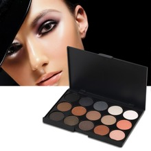 Hot Selling Professional 15 Colors Matte Shimmer Eyeshadow Palette Makeup Cosmetic wonderful color choices(China)