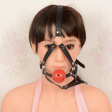 Buy Open Mouth Gag Ball gag,adult sex restraints mouth gag,sex slave mouth plug, full Head Harness adult game Sex Products ST210