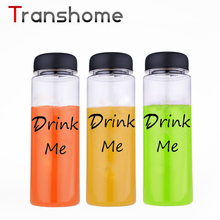 Transhome 500ML My Water Bottle Leak-Proof Cycling Camping Outdoor Soda Plastic Bottle For Water Fashion Design BPA Free