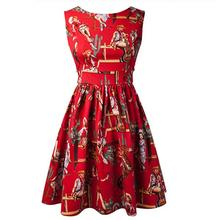 100 Cotton Fabric 1950s 60s Punk Rockabilly American West Cowboy Style Tank Dress Party Dress