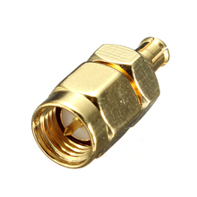 SMA Male Plug to MCX Male Plug RF Coaxial Straight Adapter Connector Convertor