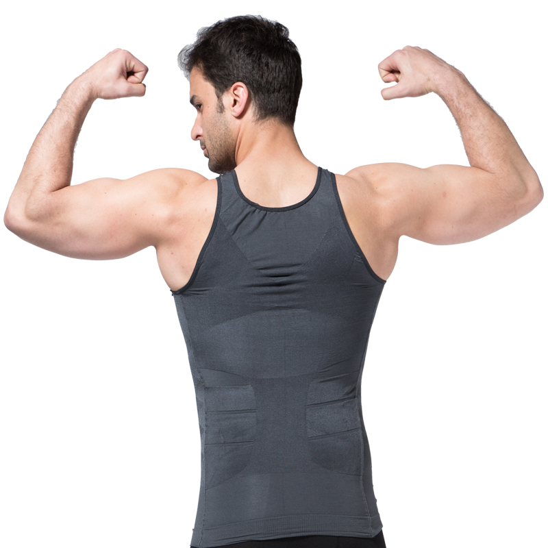 Men Slimming Underwear Body Shaper Waist Cincher Corset Men Shaper Vest Body Slimming Tummy Belly Waist Slim Body Shapewear 11