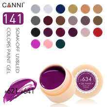 #50618 CANNI Nail Art Set Peel Off 141 Colors Gel Painting UV/LED Color Gel CANNI DIY Paniting Gel(China)