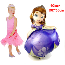 1pc Sofia Princess Brand Helium Foil Balloon Kids Birthday Party Decoration Kids Gifts Foil Balloon Baloes 102*65cm Baby Shower(China)