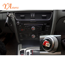 New Car Styling Sticker Car audio Multimedia Steering Wheel Buttons cover 3D Sticker Car Accessories for Audi A1 A4 A5 A6 Q3 Q5