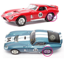 1/43 Scale  1965 Shelby Cobra Daytona Coupe Diecast Car Model Car Kids Toys Collectible boys Gifts W Box