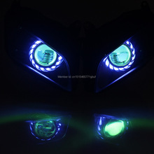 Motorcycle/Motorbike Angel Eyes HID Headlight Assembly Look Like Eagle Eyes for Honda CBR 600RR 07-12 Custom Free shipping