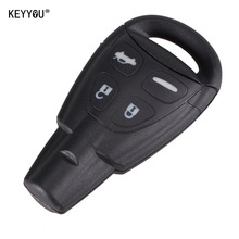 KEYYOU For SAAB 9-3 9-5 DKT0187 4 Buttons Replacement Entry Remote Smart car Key Shell Case With LOGO Free shipping