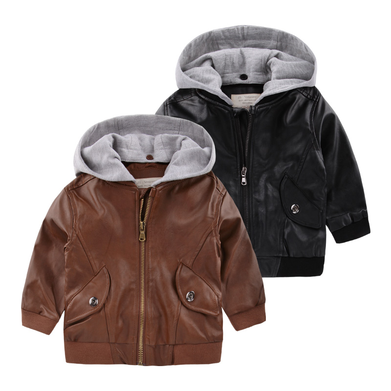 Boy zip jackets leather coat, 2017 new autumn tide U4843 into childrens clothing han edition children baby jacket<br><br>Aliexpress