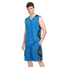 2017 Basketball Clothes Men Set Custom Sleeveless and Short  Printed Jersey Basketball Game Female Basketball Uniforms Suit