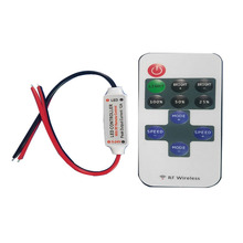 1 X 12V Wire RF Wireless Switch Controller Dimmer for Mini LED Strip Light Bright LED Controller With RF Remote Control(China)