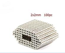100Pcs/Lot Magnet 2mmx2mm Powerful Strong Rare Earth 2x2mm NdFeB Magnet Neo Neodymium Magnets D 2x2 mm(China)