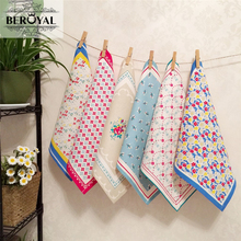 New 2017 Kitchen Towel -- 36*38cm 6Piece/Set Cotton Tea Towels Magic Washing Dish Towel Cleaning Cloth Scouring Pad Dishcloth