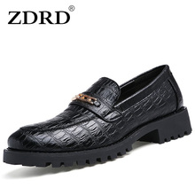 ZDRD 2017 Crocodile Leather Men Loafers Casual Designer Italian Shoes Men Espadrilles Luxury Brand Breathable Flat Driving Shoes(China)