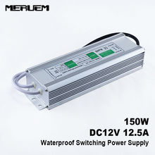 150W 12V 12.5A  Switching power supply  LED Strip Driver  Water Proof IP 67 Input AC90-130V /220-260V 50/60Hz