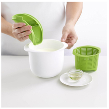 Microwave Cheese Maker Contains Recipes Plastic Healthy For Making Cheese Home Cooking Kitchen Dessert Pastry Pie Tool(China)