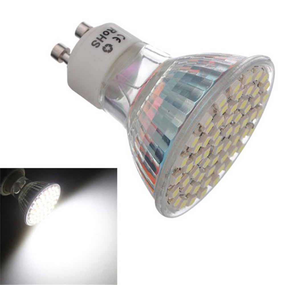 Sale 8X GU10 4.5W White 60 SMD 3528 LED Spot Light Lamp Energy Saving Bulb AC 220V<br><br>Aliexpress