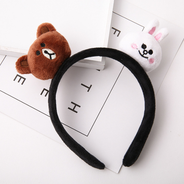 kids baby infant child girls and Mom Cute little rabbit bear headwrap hair bands Small yellow duck elastic ribbon headband Accessories (7)