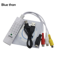 blue than USB2.0 Video Capture Card TV Tuner VCR DVD Audio Adapter Converter Connector for Win 10 NTSC Video Game on PC/IOS