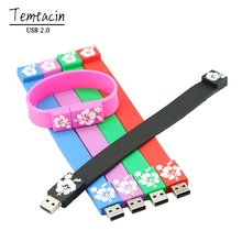 100% Real Capacity Colorful Bracelet Wrist Band Dm USB Flash Drive Silicone USB Stick Pen Drive 4GB 8GB 16GB 32GB 64GB