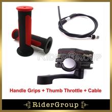 Alloy Thumb Throttle Cable Handle Grips For ATV Quad 50cc 70cc 90cc 110cc 125cc 150cc 200cc 250cc Taotao Sunl Roketa Kazuma(China)
