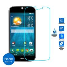 2pcs/lot Real 9H 2.5D 0.26mm New Luxury Tempered Glass Screen Protector Film for Acer Liquid Jade Z S57 Liquid Jade S S56