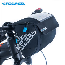 Buy ROSWHEEL 3L Sports Front Bicycle Bags Bike Cycling Front Basket Pannier Frame Tube Handlebar Bag 400D PVC Map Bolsa Bicicleta for $14.98 in AliExpress store