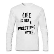 Cheap Price Life Is Like A Wrestling Match Tees Shirt Youth Full Sleeve Cheap Funny T Shirts Long Sleeve Youth T-Shirt