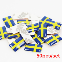 LINGUO 50pcs/lot, New Car styling Sweden small Decorative Badge Hub caps Steering wheel for skoda octavia honda fit Car Sticker(China)
