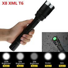 Big Discount ! CREE XM-L T6 3800LM LED Flashlight Torch 5 Mode LED 18650 Flashlamp lighting For Hunting/Camping/Fishing